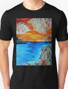 Sunset and Flowers T-Shirt