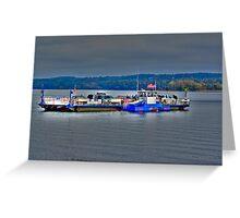 Ferry On Lake Champlain Greeting Card