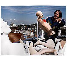 Art & The Artist - atop an Amsterdam rooftop Poster
