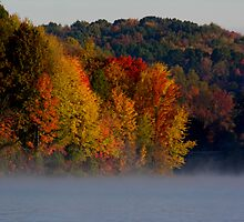 fall colors on the lake by 1busymom