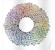 Pokemon Colorwheel Poster