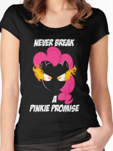 Never Break a Pinkie Promise (WHITE TEXT) Women's Fitted Scoop T-Shirt