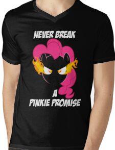 Never Break a Pinkie Promise (WHITE TEXT) Mens V-Neck T-Shirt