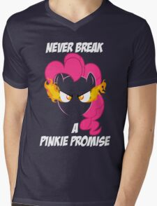 Never Break a Pinkie Promise (WHITE TEXT) Mens V-Neck T-Shirt