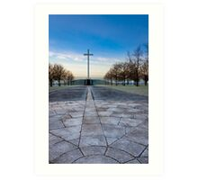 Papal Cross - Dublin Ireland Christian Landmark Art Print