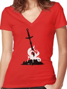 Bonfire Women's Fitted V-Neck T-Shirt