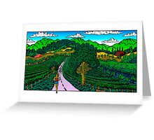 Runner in Wine Country Greeting Card