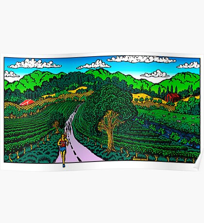 Runner in Wine Country Poster