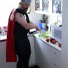 Thor prepares the salad. by Coldtown