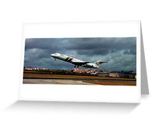 Fokker 100     PGA         taking off Greeting Card