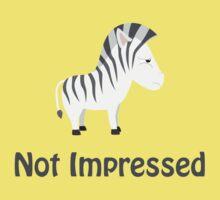 Not Impressed Zebra Kids Tee