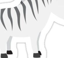 Not Impressed Zebra Sticker