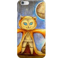 let the force be with you cute star war kitty iPhone Case/Skin