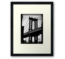 Gratuitous Manhattan Bridge & ESB shot Framed Print