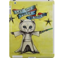 the force star kitty lightsaber  iPad Case/Skin