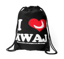 I (HEART) KWAJ (Dark) Drawstring Bag