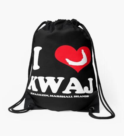 I (HEART) KWAJ (Dark) Drawstring Bag