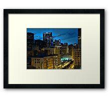 Dusk in the Windy City Framed Print