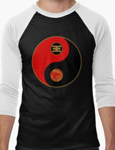 Jason's Ranger Power Yin Yang Men's Baseball ¾ T-Shirt