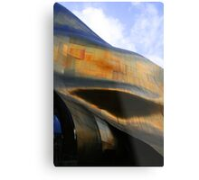 The Golden Wall Metal Print