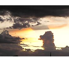 Afternoon Sunset and Storm Rising Photographic Print