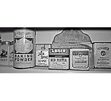 spice tins Photographic Print