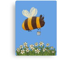 Bumble Bear with honey flies home Canvas Print