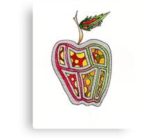 Silver Apple Canvas Print