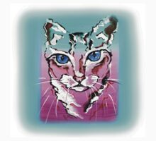 Colorful Cat - Animal Art by Valentina Miletic One Piece - Short Sleeve