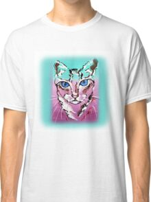 Colorful Cat - Animal Art by Valentina Miletic Classic T-Shirt