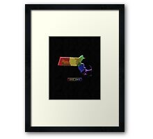 LGBT Equality Massachusetts Rainbow Map - LGBT Equality Framed Print