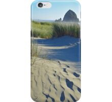 Haystack Rock with Sand Dune, Oregon iPhone Case/Skin