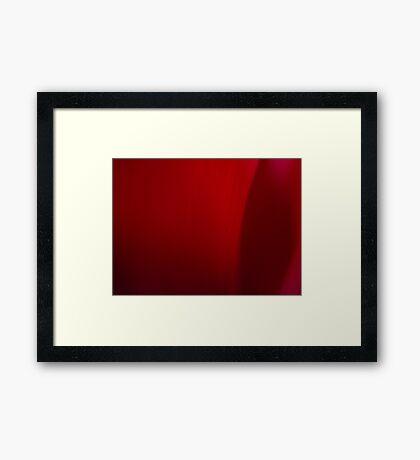 Deep Red Framed Print