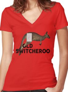 The Old Switcheroo Women's Fitted V-Neck T-Shirt