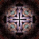 Purple-Black Cross by Tania Rose
