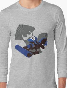 Dark Blue Female Inkling - Sunset Shores Long Sleeve T-Shirt