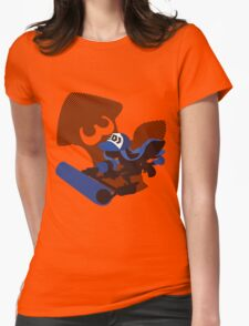 Dark Blue Female Inkling - Sunset Shores Womens Fitted T-Shirt