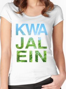 KWA JAL EIN Women's Fitted Scoop T-Shirt
