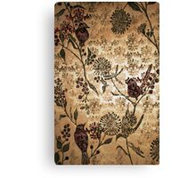 Golden Morning - Woodcut Chine Colle Canvas Print