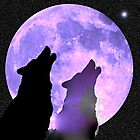 Purple moon rays for a wolf and his twin by Chaharra Gilman