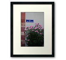 Rue des Moulins Framed Print