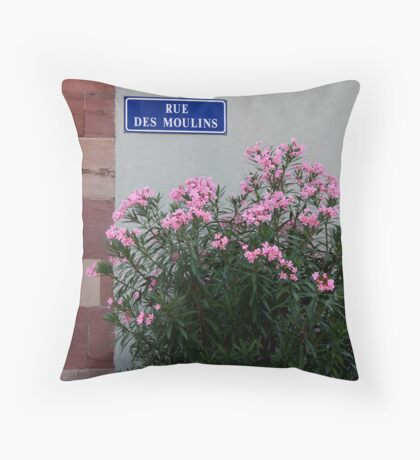 Rue des Moulins Throw Pillow