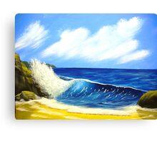 blue seascape Canvas Print