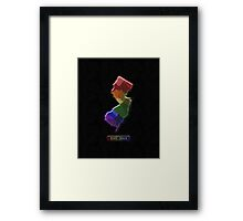 LGBT Equality New Jersey Rainbow Map - LGBT Equality Framed Print
