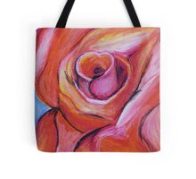 Red Rose - Oil Pastel Tote Bag