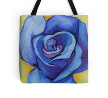 Blue Rose - Oil Pastel Tote Bag