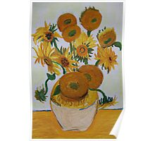 Sunflowers - Oil Pastel Poster