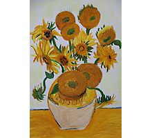 Sunflowers - Oil Pastel Photographic Print