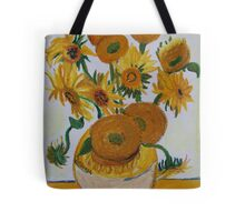 Sunflowers - Oil Pastel Tote Bag