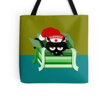 Naughty Cat Christmas Surprise Tote Bag
